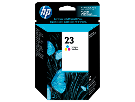 HP 23 Tri-Color Ink Cartridge